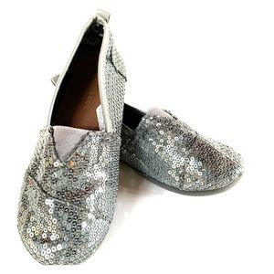 Koala Kids Silver Sparkle Shoes